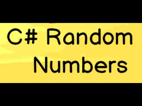 C# Random Number And RNGCryptoServiceProvider ( C# Training)