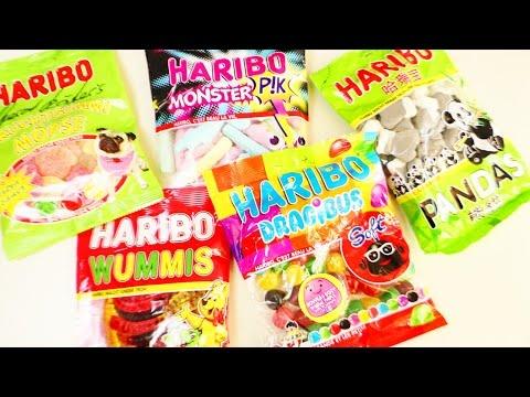 Der große  HARIBO Haul & Snacktest   Eva & Kathi testen 5 tolle Haribo Sorten aus dem Werksverkauf