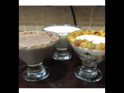 Pudding 3 type//Banana,Chocolate,Vanilla Pudding