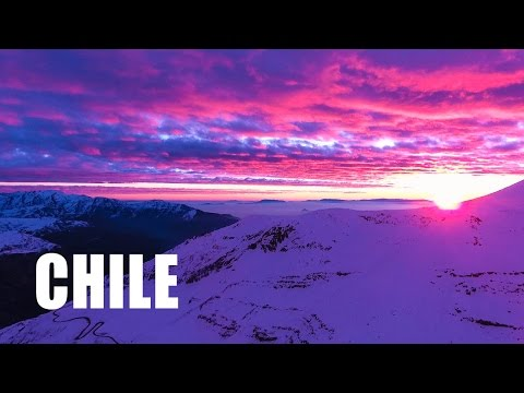 CHILE - SUNSET IN THE ANDES / DJI Phantom 4 Epic 4k Drone Footage / Valle Nevado - Chile