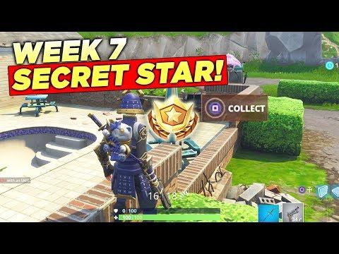 Secret Week 7 Battle Star LOCATION! Fortnite Season 5 Hidden Free Tier (Road Trip Challenges)
