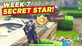 Secret Week 7 Battle Star LOCATION! Fortnite Season 5 Hidden Free Tier (Road Trip Challenges)