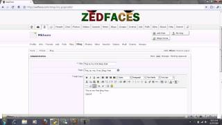 Creating A Blog On Zed Faces