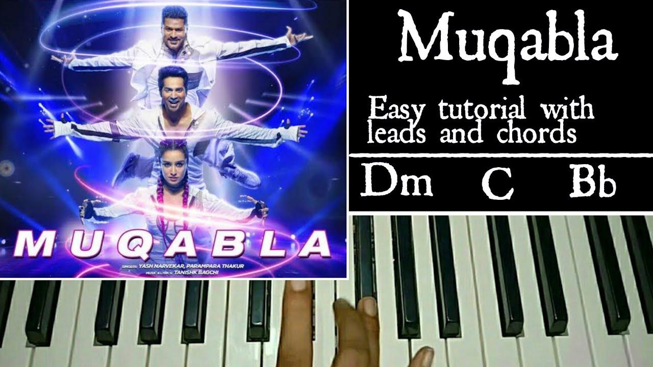 Muqabla | Easy Piano Tutorial | Street Dancer 3D | A.R Rahman, Prabhu Deva, Varun Dhawan, Shraddha K