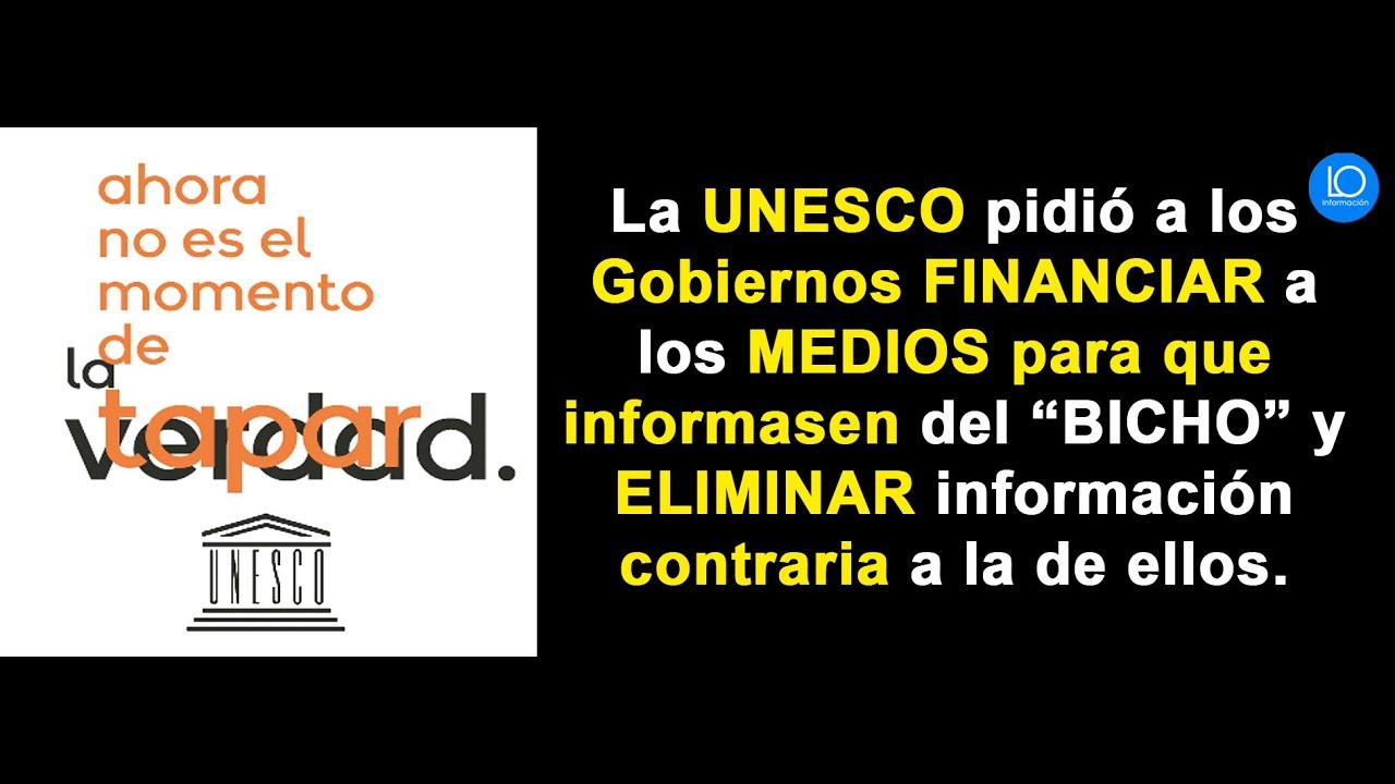 UNESCO PIDIÓ a GOBIERNOS DONACIONES a MEDIOS COMUNICACIÓN y DESGRAVACIONES frente COVID-19