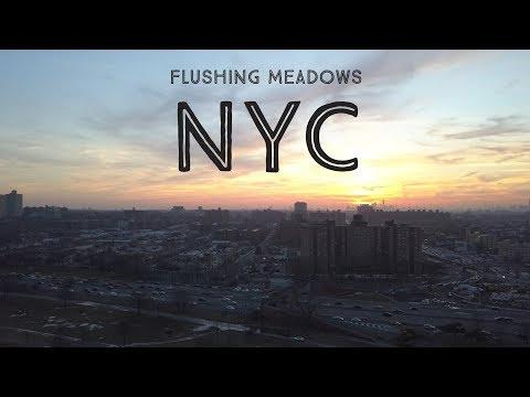 Flushing Meadows Corona Park - NYC Queens - 4K mavic pro drone footage