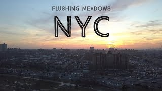 Flushing Meadows Corona Park - NYC Queens - 4K mavic pro drone footage