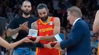 Ricky Rubio Receives FIBA World Cup MVP Award
