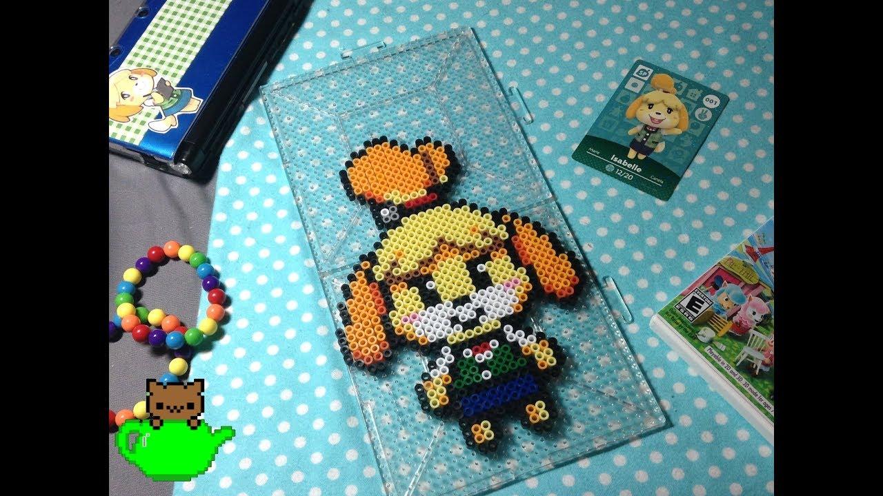 Isabelle Animal Crossing Perler Bead Stop Motion