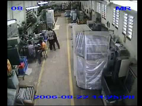 Live factory accident and one died