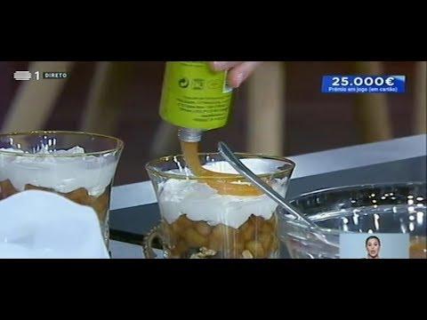 Cheesecake com Doce de Maça Bravo de Esmolfe com Canela da meia dúzia - Culinária na Praça RTP