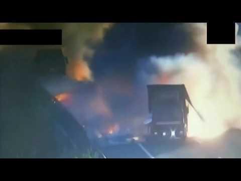 Дтп взрыв фуры во время движения