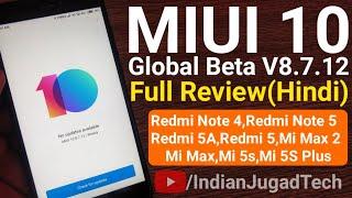 MIUI 10 Global Beta ROM V8.7.12 Full Redmi for Redmi Note 4 & Second Batch Devices   MIUI 10