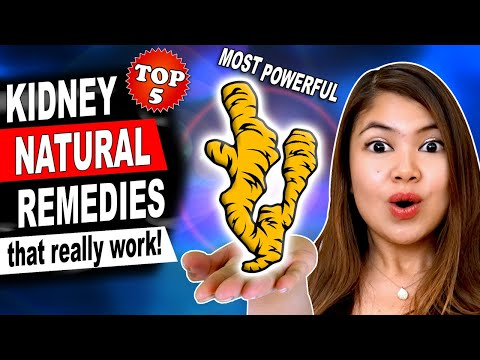 TOP 5 Natural Remedies for KIDNEY Health - Home Remedies to Lower Creatinine Cleanse the Kidneys