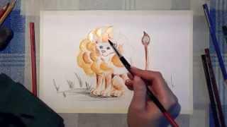 25 Ирина Колобова   Урок рисования львёнка