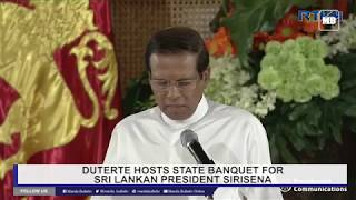 Duterte hosts a state banquet for Sri Lankan President Sirisena Part 2