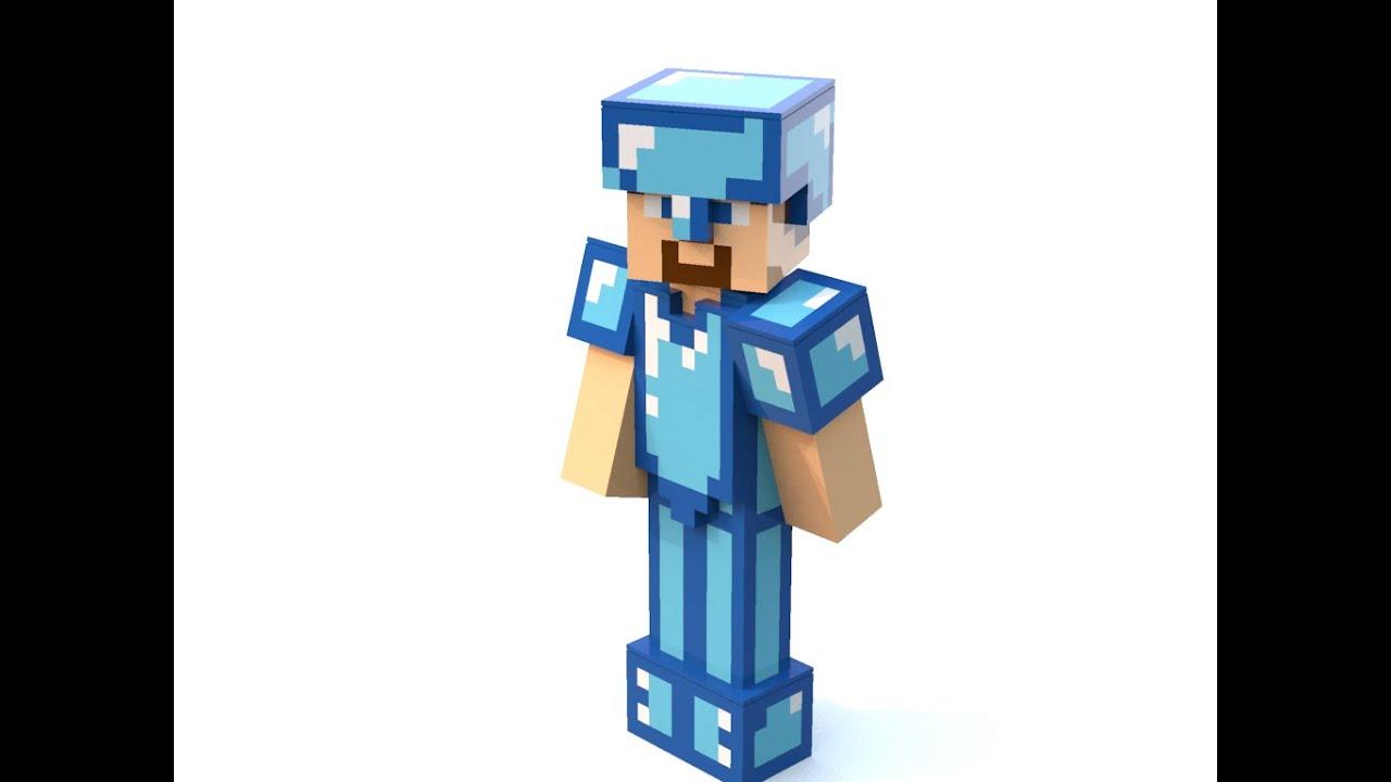 LEGO MINECRAFT STEVE With DIAMOND ARMOR! +INSTRUCTION   YouTube