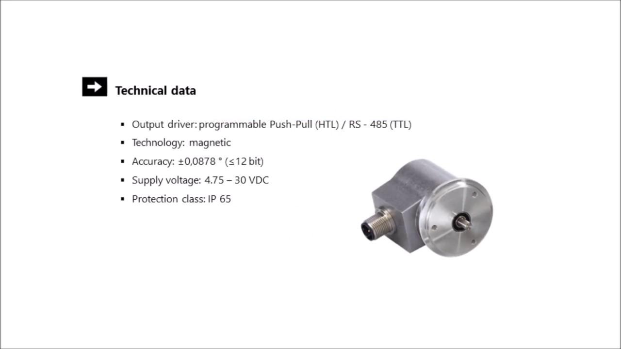 POSITAL IXARC UCD-IPH00-XXXXX-HRY0-CAW Incremental Rotary Encoder