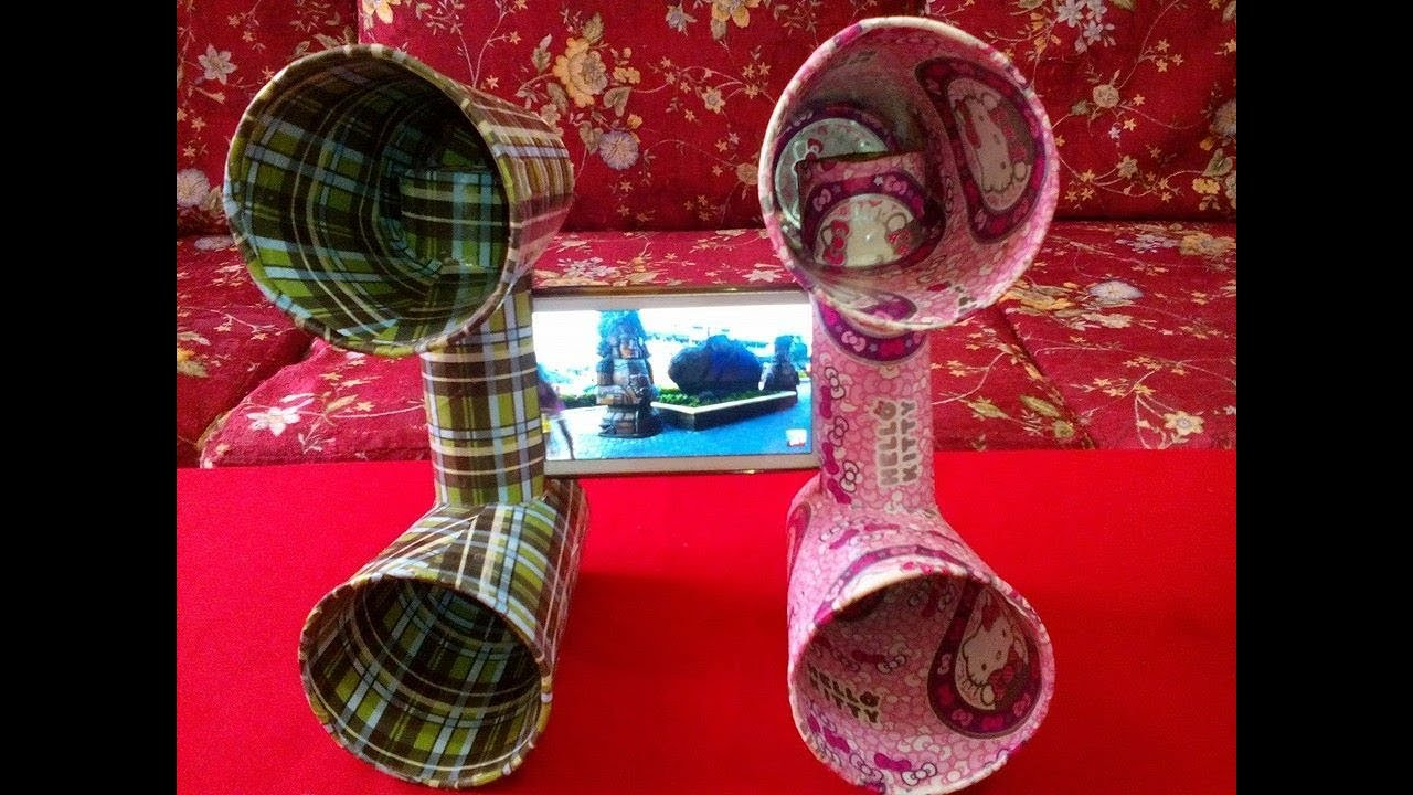 Diy 21 mobile speaker dock holder best out of waste for Home decorations from waste products