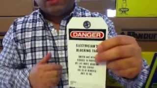Etiquetas de Seguridad Industrial  PVT-165-Q Bilingual Safety Tags, Lockout Tagout, Panduit |
