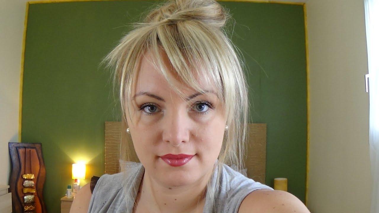 Tutoriel coiffure 14 cr er une fausse frange youtube for Comcoiffures avec frange