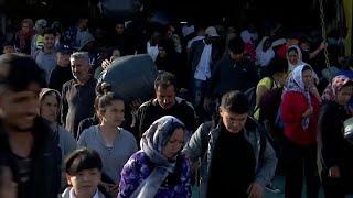 Von Samos aufs Festland: Griechische Behörden siedeln Flüchtlinge um