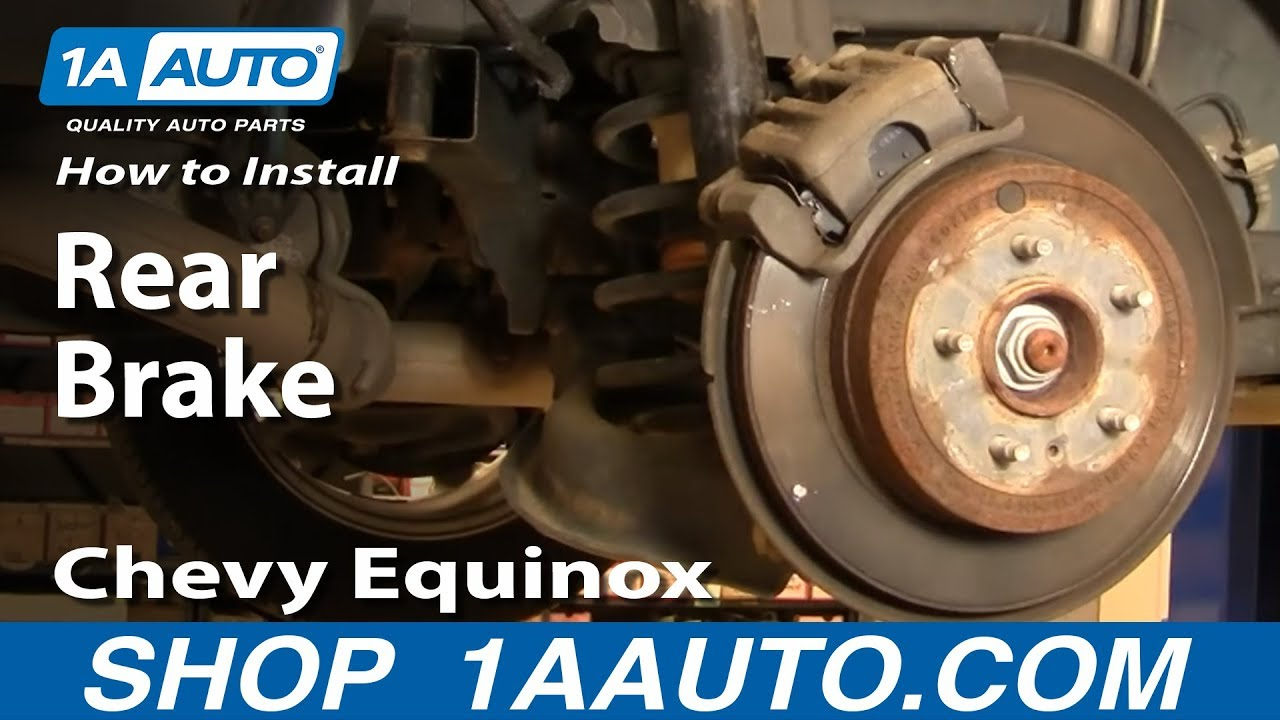 How To Install Replace Rear Brakes Chevy Equinox Pontiac ...
