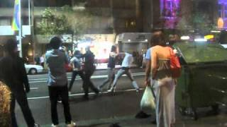 Street fight on Oxford St Sydney