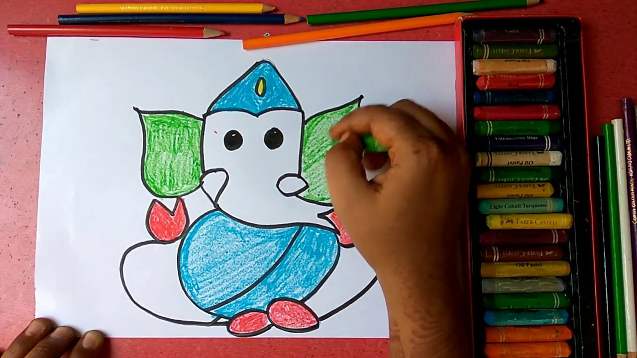 How To Draw Lord Ganesha Step By Step Very Easily For Kids Youtube
