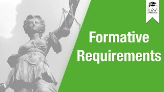 Contract Law - Formative Requirements