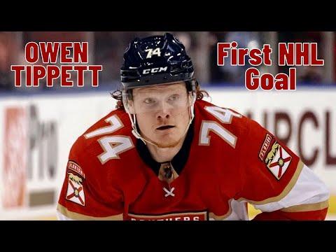 Owen Tippett #74 (Florida Panthers) first NHL goal 26/10/2017
