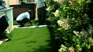 Synthetic Grass Installation - Backyard - Solana Beach, CA - 11197