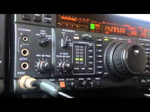Iceland TF3IG in QSO with Slovenia S52ON Yaesu FT-1000MP