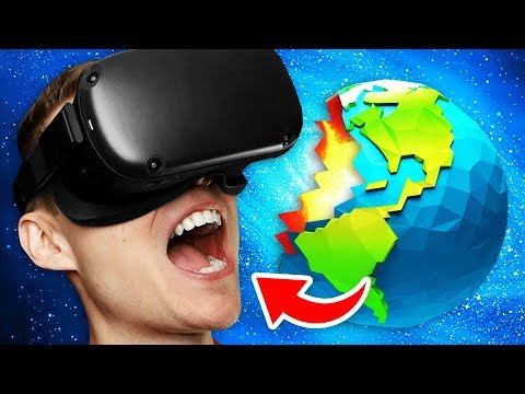 Growing To INFINITE SIZE In Virtual Reality To EAT EARTH (Funny GrowRilla VR Gameplay)