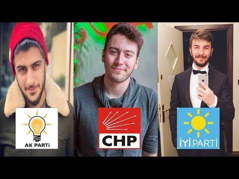 Youtuberler'in Oy Vereceği Kesinleşmiş Partiler ! 2018