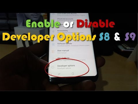 Enable Or Disable Developer Options On Galaxy S8 And S9