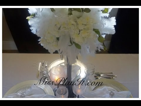 DIY: Quick Tip Feather Fancy Centerpiece for Under $30 ...