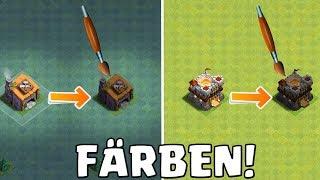 MEISTERHÜTTE & RATHAUS FÄRBEN! || Clash of Clans || LP CoC [Deutsch German]