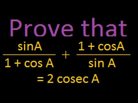 Trigonometric proofs : Problem 2