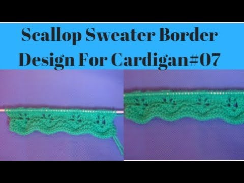 Scallop Sweater Border Design Border Knitting Design For
