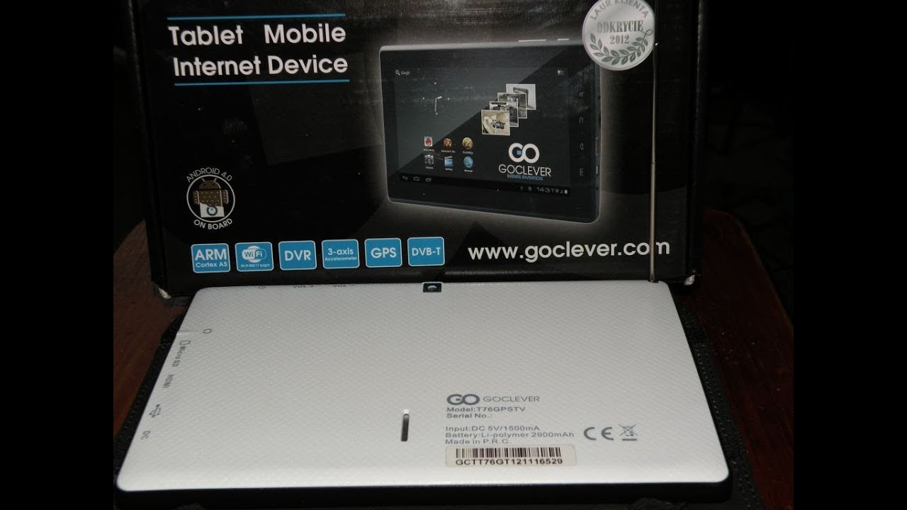 tablet goclever tab t76gps tv tuner tv youtube. Black Bedroom Furniture Sets. Home Design Ideas