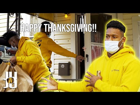 Giving Out Thanksgiving Dinners! // JuJu Smith-Schuster