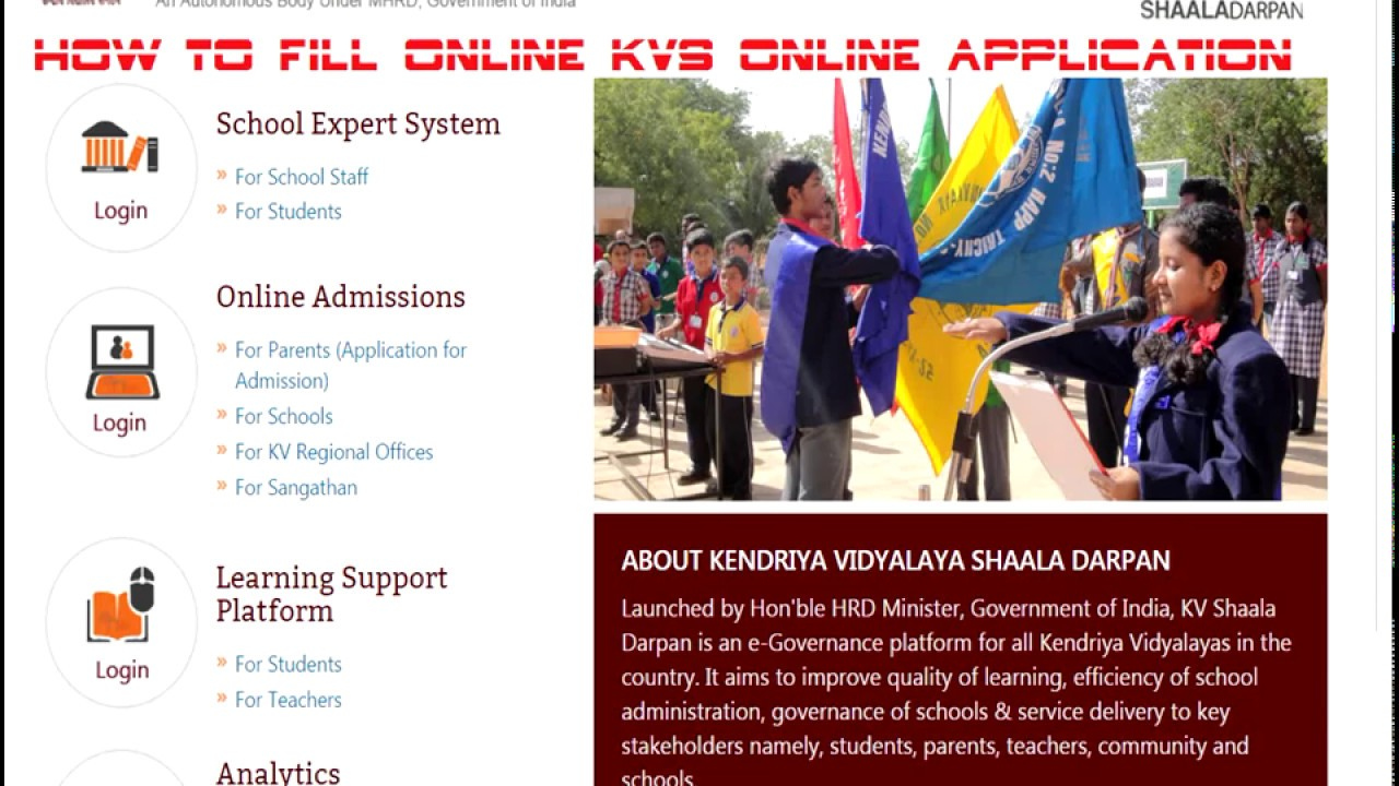 edit kv school admission edit kv online application youtube