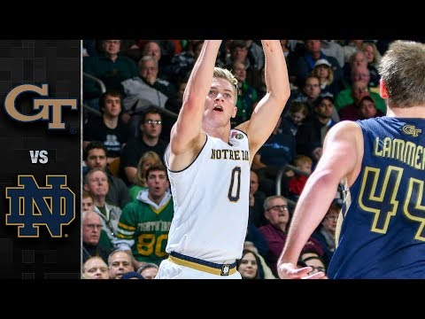 Georgia Tech vs. Notre Dame Fighting Irish Basketball Highlights (2017-18)