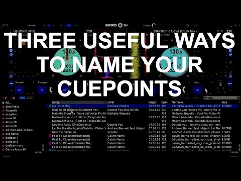 DJ Tips - Three Useful Ways To Name Your Cuepoints