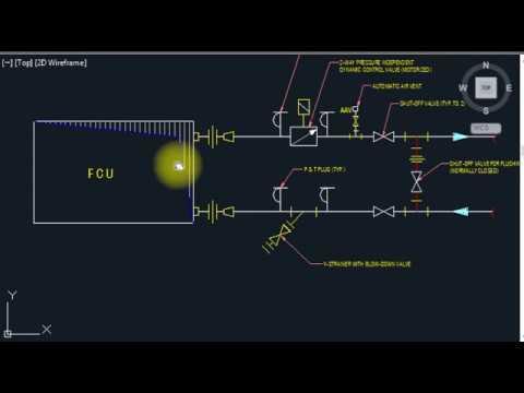 HVAC - FCU Fan Coil Units valve connection installation details