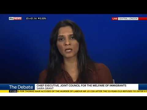 Saira Grant discusses rise in hate crime post Brexit