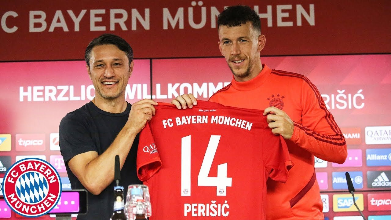 super popular 8ece0 163db Presentation of Ivan Perišić w/ Niko Kovac | FC Bayern Press Conference