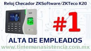 Reloj Checador K20 [Parte 1] - Alta de Empleados | ZKSoftware | ZKTeco | Huella Digital