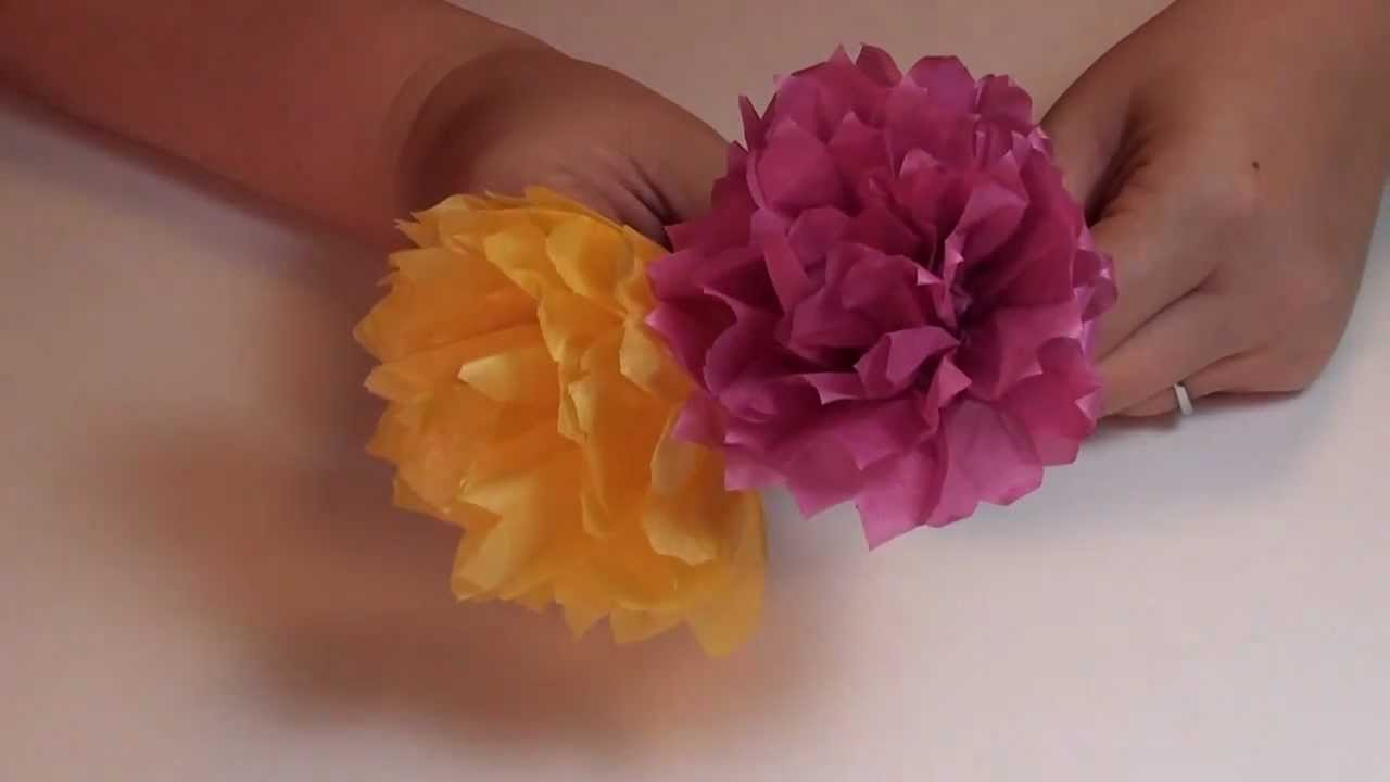 Tissue Paper Carnation Flower Youtube